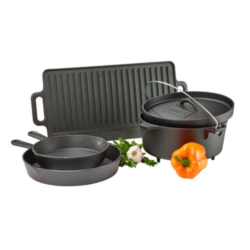 Outdoor Gourmet 5-Piece Cast-Iron Cookware Set - view number 6