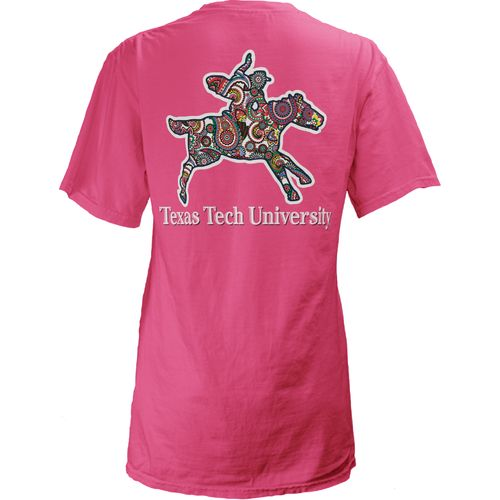 Three Squared Juniors' Texas Tech University Preppy Paisley T-shirt