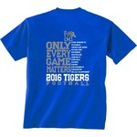 New World Graphics Men's University of Memphis Schedule T-shirt