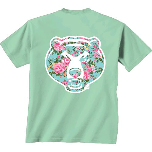 New World Graphics Women's Baylor University Floral T-shirt