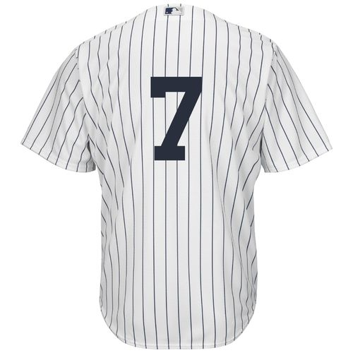 Majestic Men's New York Yankees Mickey Mantle #7 Number Only Cool Base Replica Jersey - view number 1