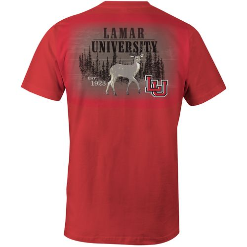 Image One Men's Lamar University Deer Slab Comfort Color T-shirt