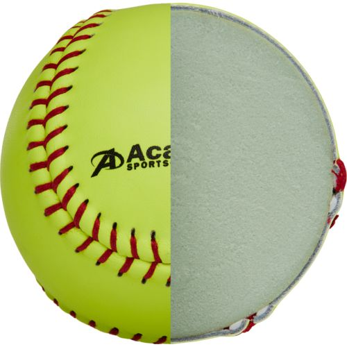 Academy Sports + Outdoors Youth 11 in Leather Softballs 6-Pack - view number 4