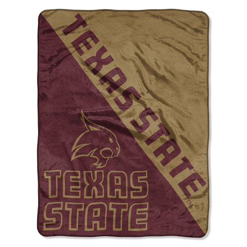 The Northwest Company Texas State University Halftone Micro Raschel Throw