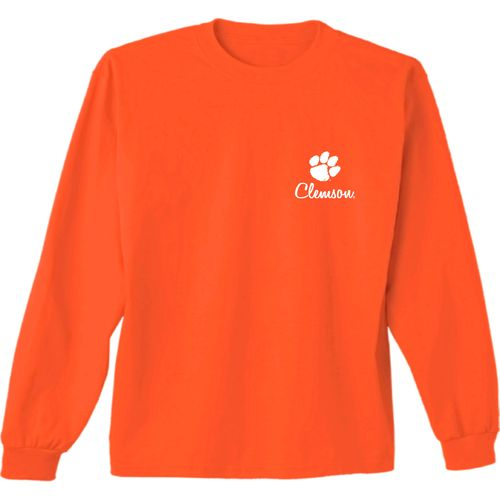 New World Graphics Women's Clemson University Herringbone Long Sleeve T-shirt - view number 2