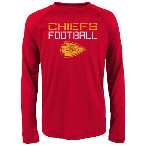 NFL Boys' Kansas City Chiefs Dri-Tek Concrete Long Sleeve T-shirt