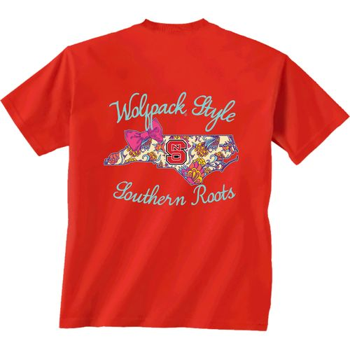 New World Graphics Women's North Carolina State University Bright Bow Short Sleeve T-shirt