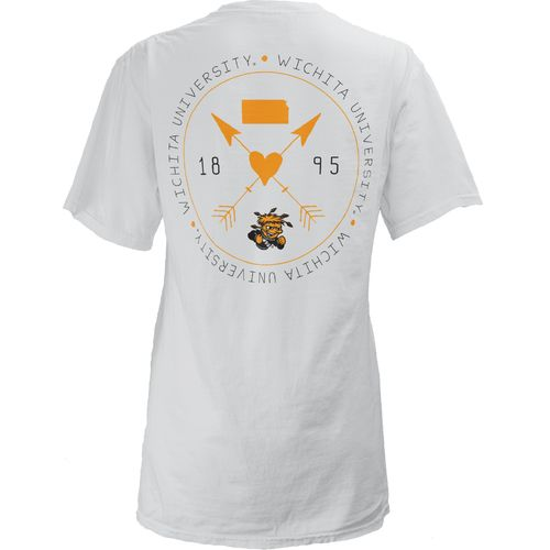 Three Squared Juniors' Wichita State University Boho Arrow Pocketed T-shirt