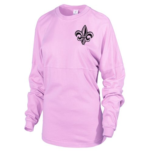Venley Women's University of Louisiana at Lafayette Hawaiian Spirit Long Sleeve Football T-shirt - view number 2
