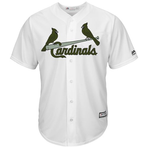 Majestic Men's St. Louis Cardinals Yadier Molina Memorial Day COOL BASE Jersey - view number 2