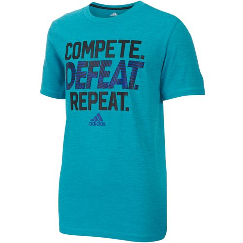 adidas Boys' climalite Compete Defeat Repeat T-shirt