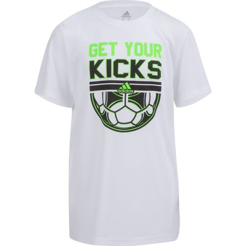 adidas Boys' Get Your Kicks climalite T-shirt