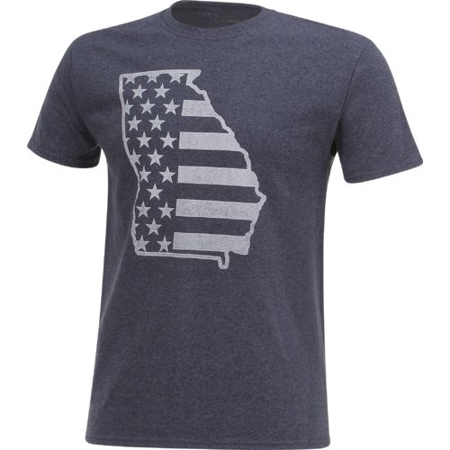 Academy Sports + Outdoors Men's Georgia American Flag T-shirt - view number 3