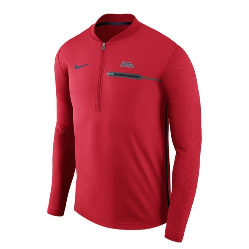 Nike Men's University of Mississippi Coaches 1/4 Zip Pullover