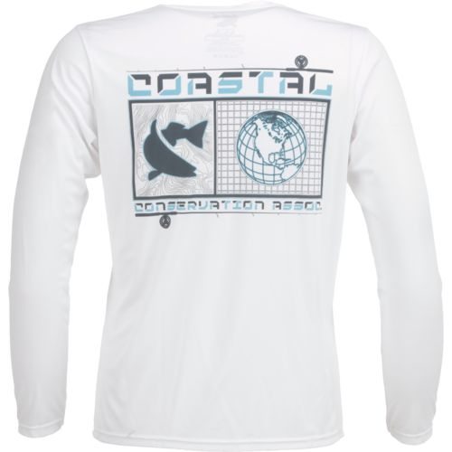 CCA Men's Performance Coastal World Long Sleeve T-shirt