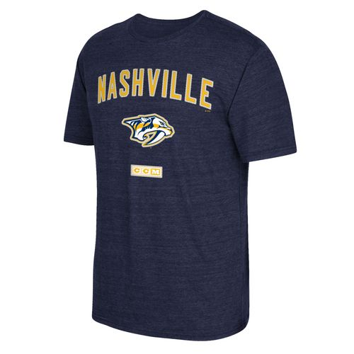 CCM Men's Nashville Predators Stitches Needed Short Sleeve Triblend T-shirt - view number 1