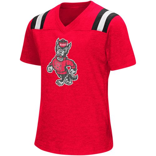 Colosseum Athletics Girls' North Carolina State University Rugby Short Sleeve T-shirt