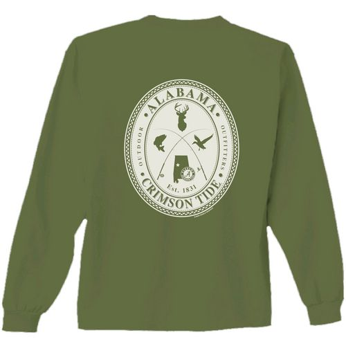 New World Graphics Men's University of Alabama Crossed Oval Long Sleeve T-shirt