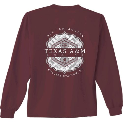 New World Graphics Women's Texas A&M University Faux Pocket Long Sleeve T-shirt