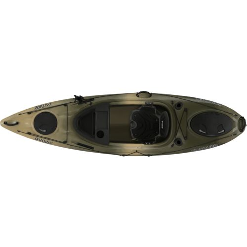 Evoke Conquer 100 10 ft Camo Sit-In Fishing Kayak - view number 3