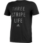 adidas Men's Three Stripe Life Metal Mesh T-shirt - view number 3