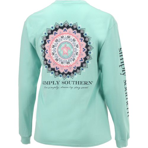 Simply Southern Women's Mandala Long Sleeve T-shirt