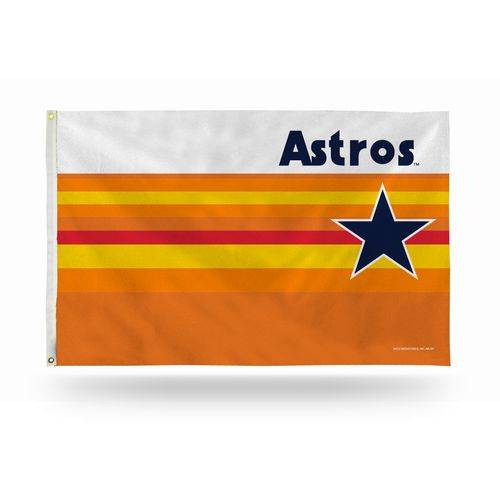 Rico Houston Astros Retro 3 ft x 5 ft Rainbow Banner Flag