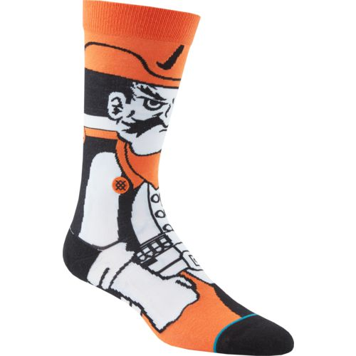 Stance Men's Oklahoma State University Pistol Pete Team Mascot Socks