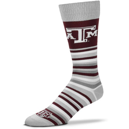 For Bare Feet Texas A&M University Lotta Stripe Thin Knee High Dress Socks