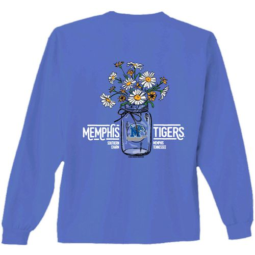 New World Graphics Women's University of Memphis Bouquet Long Sleeve T-shirt