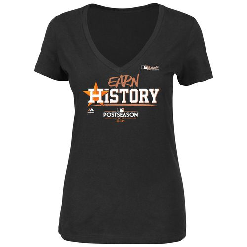 Majestic Women's Astros Division Series Earn History Locker Room T-Shirt