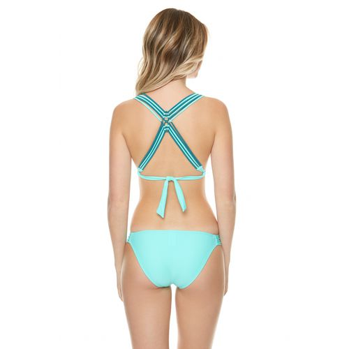 O'Rageous Juniors' Solids Molded Bra Swim Top - view number 1