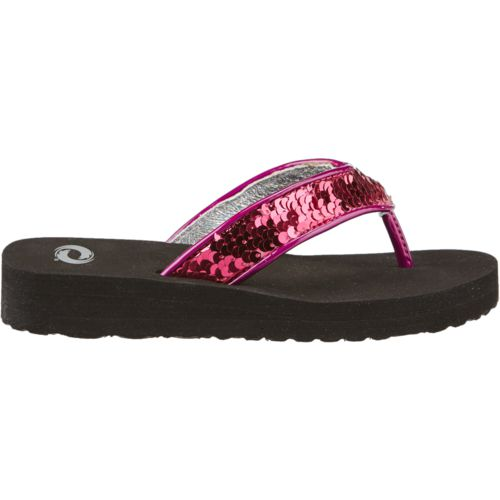 O'Rageous Girls' Sequin Flip Flops