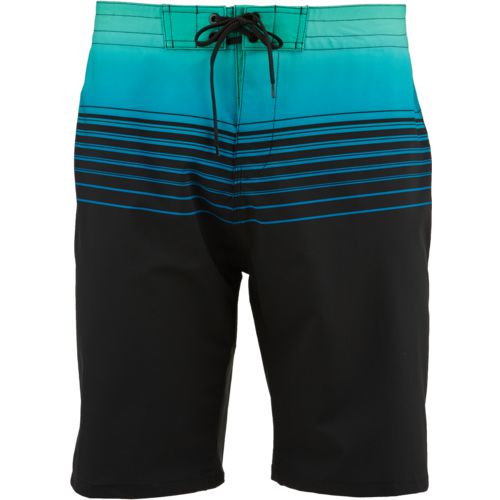 O'Rageous Men's Stretch Gradient Stripe Boardshorts