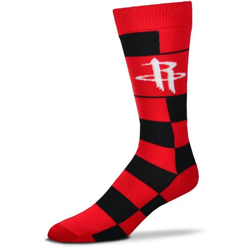 For Bare Feet Houston Rockets Jumbo Check Thin Socks