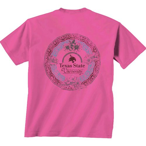 New World Graphics Women's Texas State University Healing Circle T-shirt hot sale