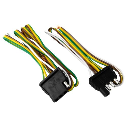 attwood 4 way flat wiring harness kit for vehicles and trailers rh academy com 7 way trailer wiring harness kit 7 Pin Round Trailer Plug Wiring Diagram