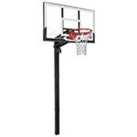 spalding 54 in inground acrylic basketball hoop academy