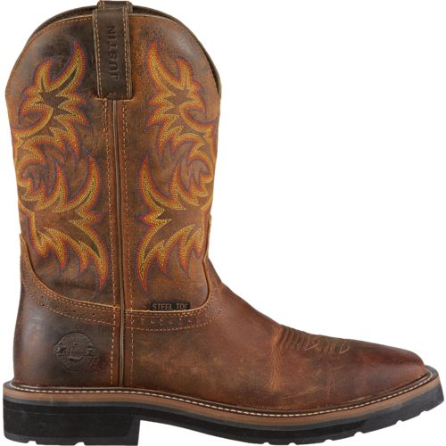 Justin Men s Stampede Steel Toe Work Boots