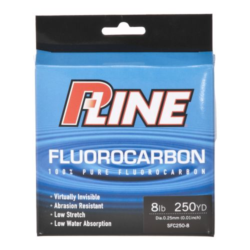 Academy p line 8 lb 250 yards fluorocarbon fishing line for Pline fishing line