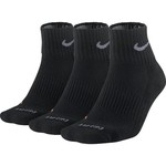 Nike Men's Dri-FIT Half Cushion Quarter Socks 3-Pack