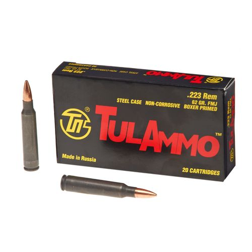 TulAmmo FMJ .223 Remington 62-Grain Centerfire Rifle Ammunition