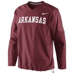 Nike Men's University of Arkansas Pullover Wind Jacket