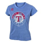 adidas Girls' Texas Rangers Triblend Short Sleeve T-shirt