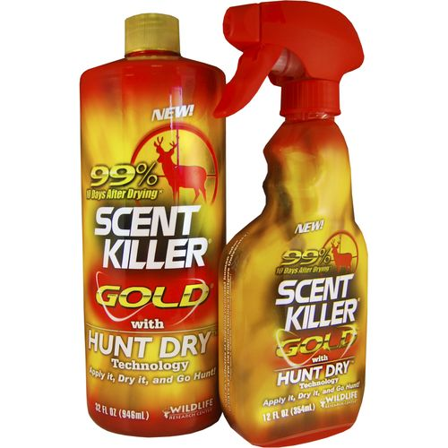 Display product reviews for Wildlife Research Center® Scent Killer® Gold® 1 qt. Scent Eliminator Combo