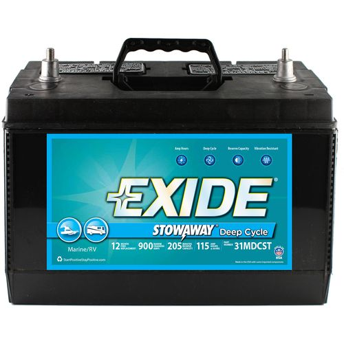 Exide Stowaway Marine/RV Deep Cycle Battery - view number 1