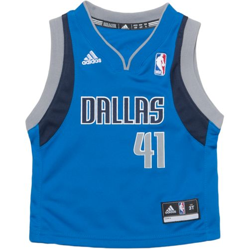 adidas™ Toddler Boys' Dallas Mavericks Dirk Nowitzki #41 Revolution 30 Replica Road Jersey