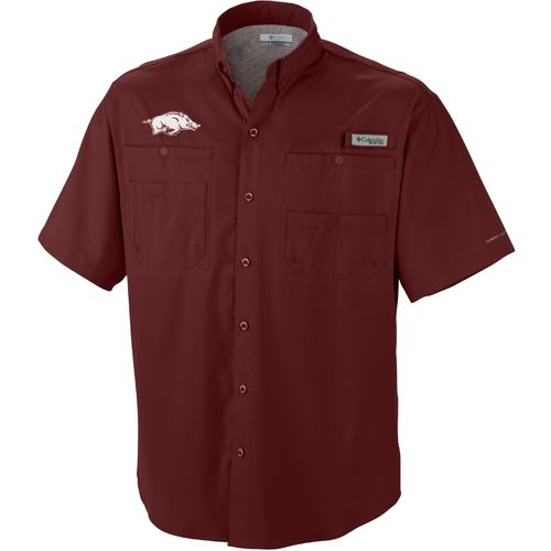 Columbia Sportswear Men's University of Arkansas Collegiate Tamiami Shirt