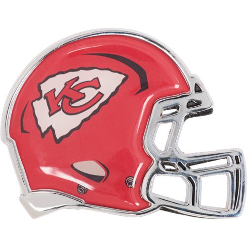 Stockdale Kansas City Chiefs Chrome Metal Helmet Auto Emblem