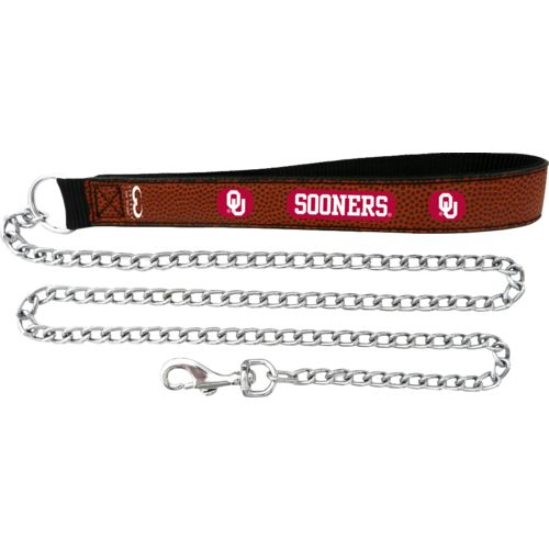 GameWear University of Oklahoma Football Leather Chain Leash